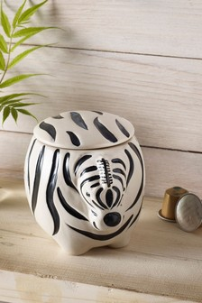 Zebra Kitchen Storage Jar