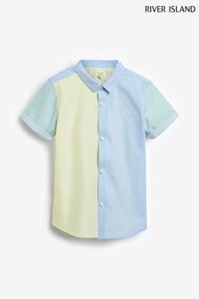 قميص أزرق كتل لون تويل منRiver Island