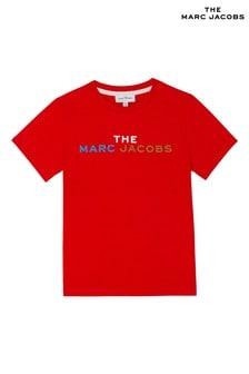 Czerwona koszulka z logo The Marc Jacobs