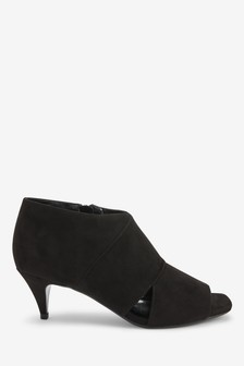 Cut Out Kitten Heel Shoe Boots