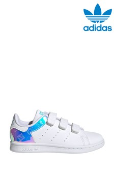 adidas Originals White/Silver Stan Smith Junior Trainers