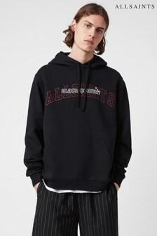 AllSaints Black Quarterline Oth Logo Hoodie