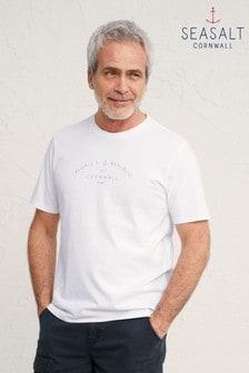 Seasalt Cornwall White People's Republic Salt Graphic T-Shirt