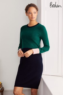 Boden Green Frederica Knitted Dress