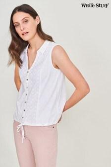 חולצת ג'רזי של White Stuff בלבן