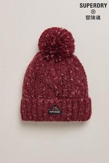 כובע גרב בסריגה עבה של Superdry מדגם Gracie