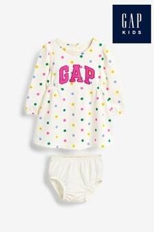 Gap Kleid und Slip mit Logo im Set, Elfenbein