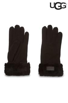 UGG® Black Turned Cuff Gloves