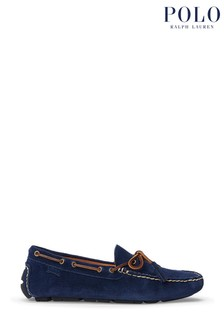 Polo Ralph Lauren Navy Anders Suede Loafer Shoes