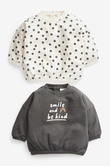 2 Pack Sweat Tops (0mths-2yrs)