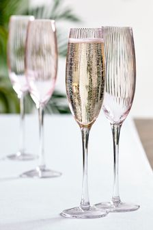 Sienna Set of 4 Flute Glasses