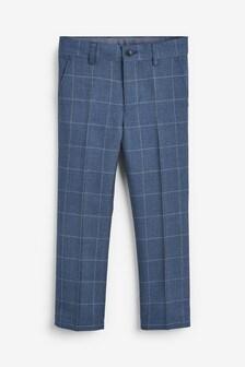 Windowpane Check Formal Trousers (3-16yrs)