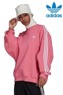 adidas Originals Oversize-Sweatshirt mit Rundhalsausschnitt und 3 Streifen