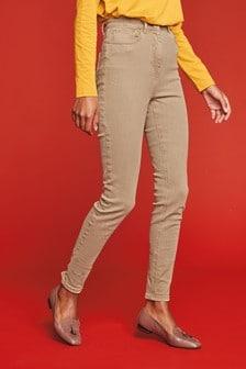 Skinny džínsy s vysokým sedom