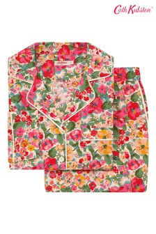 Cath Kidston® Cream Long Woven Pyjama Set Small Painted Bloom