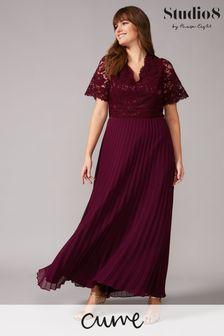 שמלת מקסי מתחרה של Studio 8 דגם Ramona באדום