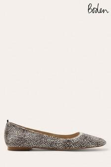 Boden Animal Olive Ballerina Shoes