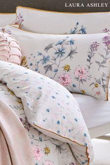 Set of 2 Laura Ashley White Wild Meadow Pillowcases
