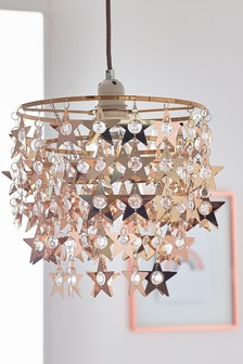 Rose Gold Stars Easy Fit Shade