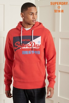 Superdry Vintage Logo Primary Brushed Hoody