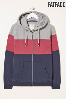 FatFace Purple Wells Cut And Sew Zip Through Hoody