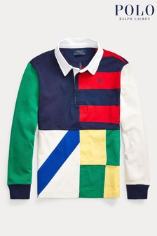 Ralph Lauren Multicoloured Long Sleeve Logo Rugby Polo
