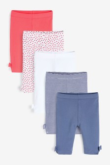 5 Pack Crop Leggings (3mths-7yrs)