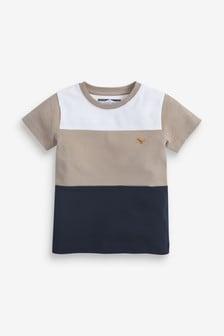 Piketové tričko s krátkymi rukávmi a farebnými dielmi (3 mes. – 7 rok.)
