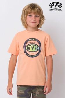 Animal Escape T-Shirt mit Grafik, Orange
