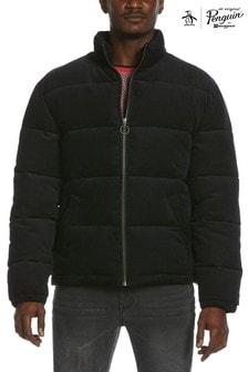 Original Penguin® Black Corduroy Padded Jacket