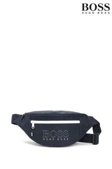 פאוץ' כחול כהה עם לוגו של Hugo Boss