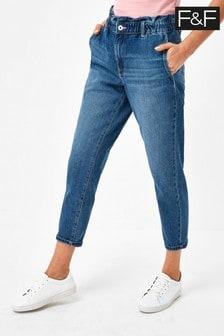 F&F Indigo Comfort Mom Jeans