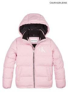 Calvin Klein Pink Essential Padded Jacket