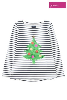 Joules Blue Harbour Luxe Long Sleeve Jersey Top