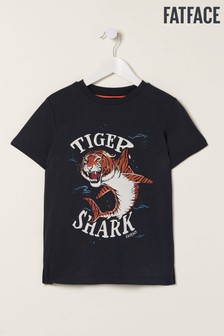 FatFace Blue Tiger Shark Graphic T-Shirt