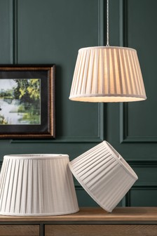 Natural Tetbury Pleated Lamp Shades