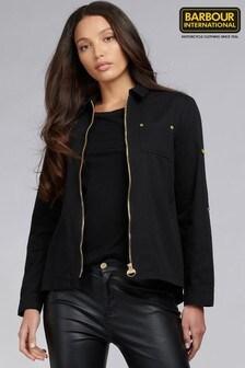 ז'קט-חולצה Minato מכותנה עם רוכסןבשחור מסדרתInternational שלBarbour®