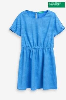 Benetton Ausgestelltes Kleid, Blau