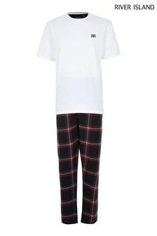 River Island Red Check Pyjama Set