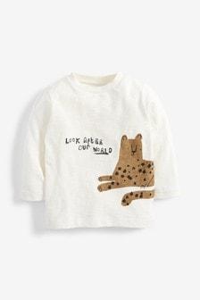 Футболка с леопардовым принтом и длинными рукавами (3 мес.-7 лет)