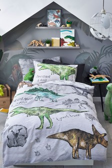100% Cotton Dino Land Reversible Duvet Cover And Pillowcase Set (478776)   $29 - $43