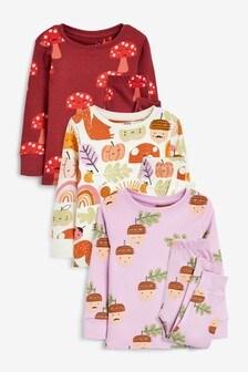 3 Pack Character Pyjamas (9mths-8yrs)