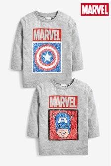 Flitrové tričko Captain America (9 mes. – 8 rok.)