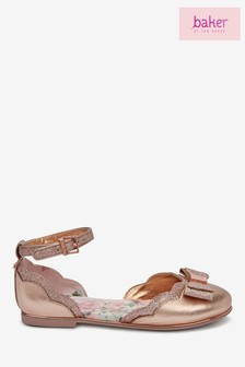 baker by Ted Baker Rose Gold Scallop Two Part Pumps