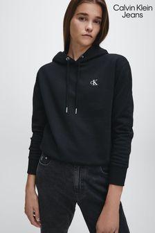 Calvin Klein Jeans Black Logo Embroidery Hoody