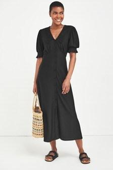 Collar Midi Dress