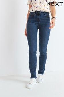 Эластичные джинсы зауженного кроя
