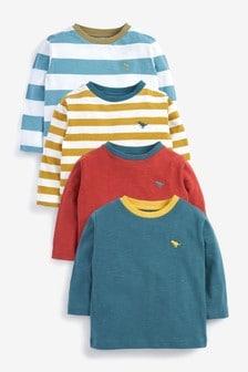 4 Pack Long Sleeve T-Shirts (3mths-7yrs)