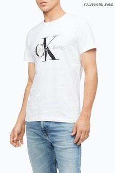Calvin Klein Jeans White Iconic Monogram Slim Fit T-Shirt