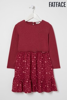 FatFace Red Olivia Star Print Dress